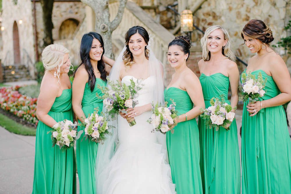 Full Length Green Bridesmaids Dress