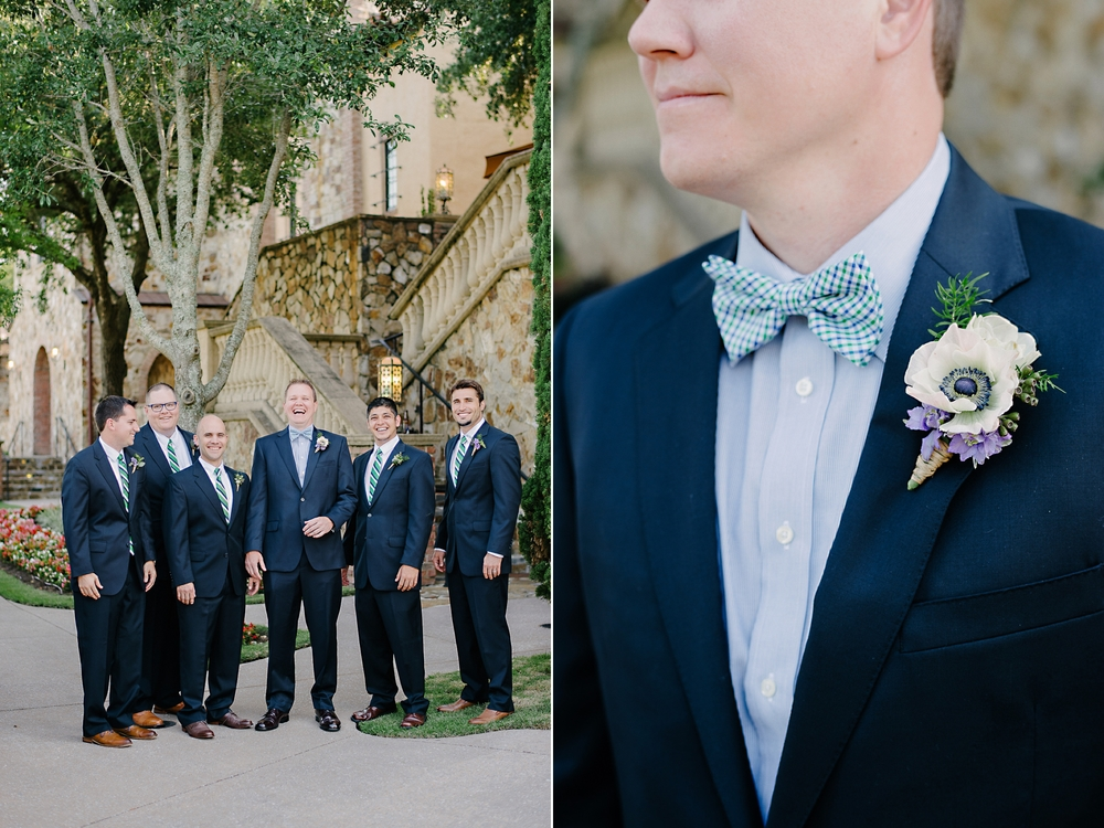 Blue Suit Wedding Groom and Groomsmen