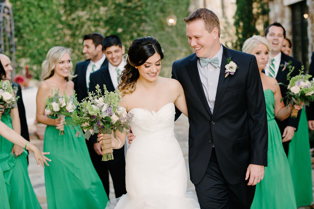 Green and Blue Wedding Party