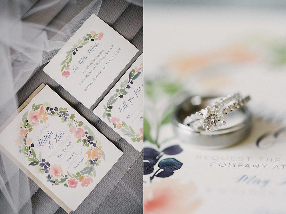 Custom Watercolor Wedding Invitation