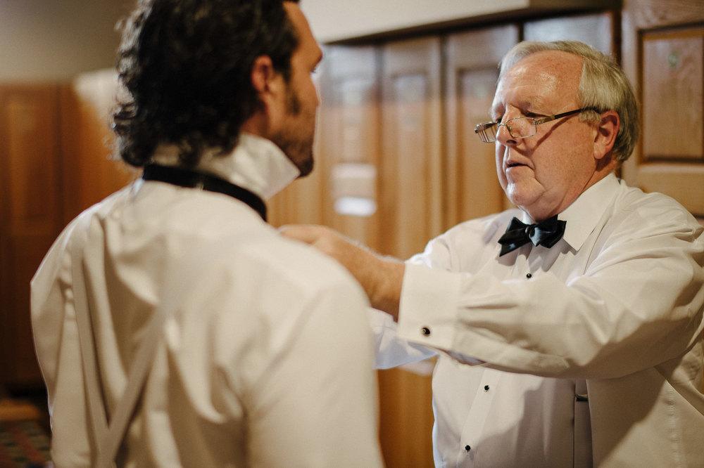 Groomsmen in White Dinner Jackets
