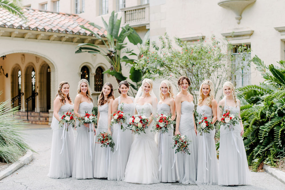 Vera Wang Grey Bridesmaids Dressed