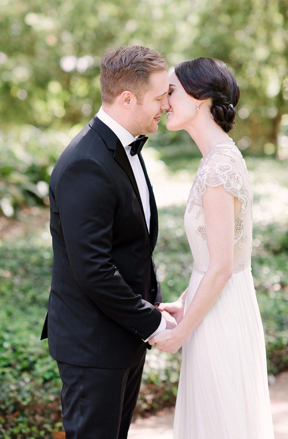 Elegant Bride in BHLDN Gown