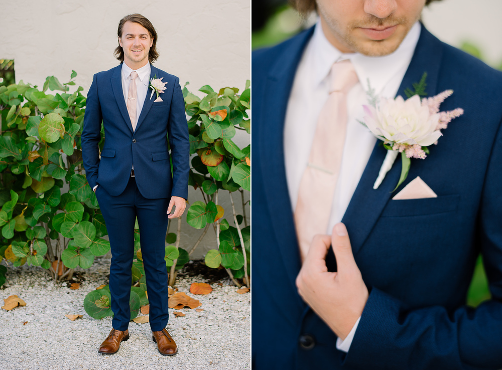 Fitted Navy Suit for Groom
