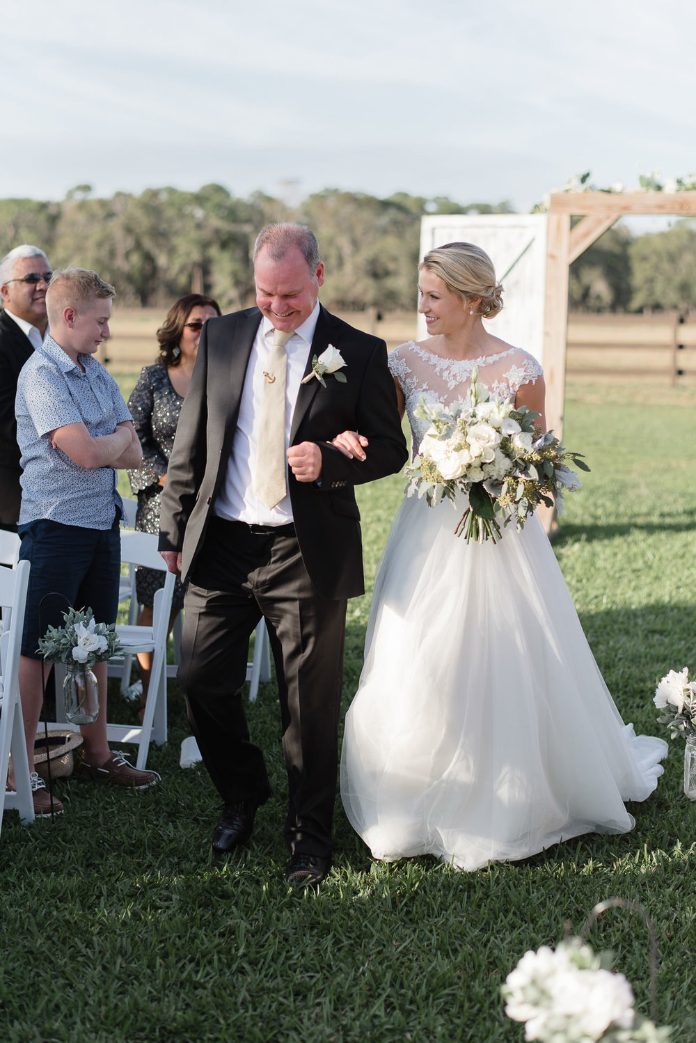 Wishing Well Barn Plant City Florida Outdoor Wedding Ceremony