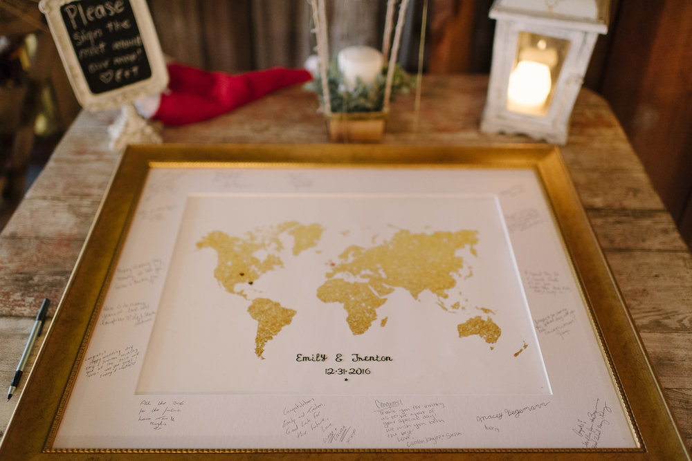 Unique Guest Book Inspiration Map