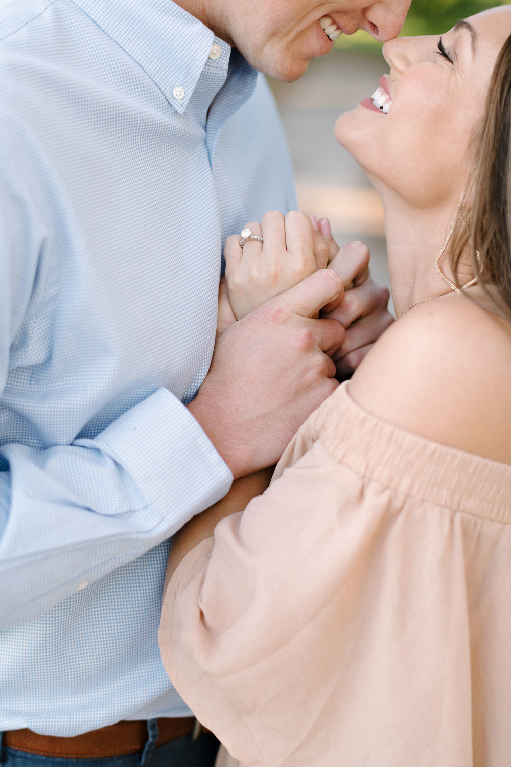 Romantic Timeless Bright Airy Engagement Photography by Sunglow
