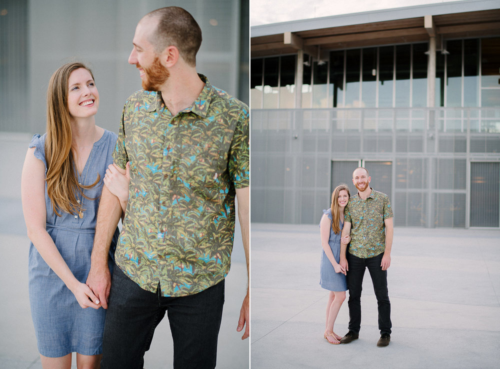 Julian B Lane Riverfront Park Engagement Session in the City