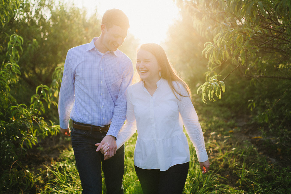 Sunrise Peach Orchard Engagement Session FL