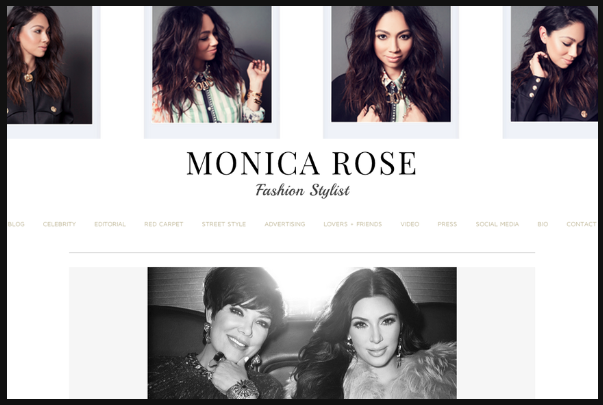 Designed for fashion stylist Monica Rose