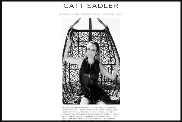 Designed for television host Catt Sadler