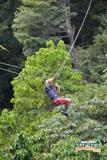 trinidad food tours - zip line fun, trinidad