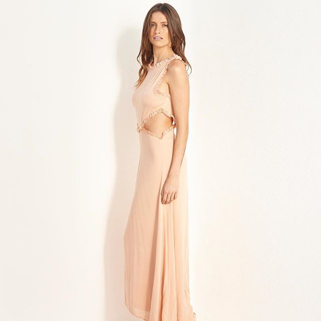 Natasha High Summer Cut Out Maxi Dress @natashathelabel  Available in peach white and sage  In store next week  @bisque__ @stbartsstores @janineedwardsboutique @enzoandtoto  #maxidress #summer #silkdress #beautiful #byronbay #timeless  @mrantong @nicholasxmorley @bohempia @sarahbrandagency