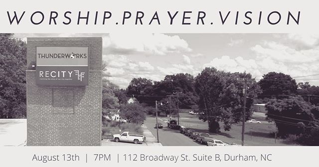 Tonight! Come out to worship and pray with us @recitynetwork while we prepare for our launch @thebluenotegrill