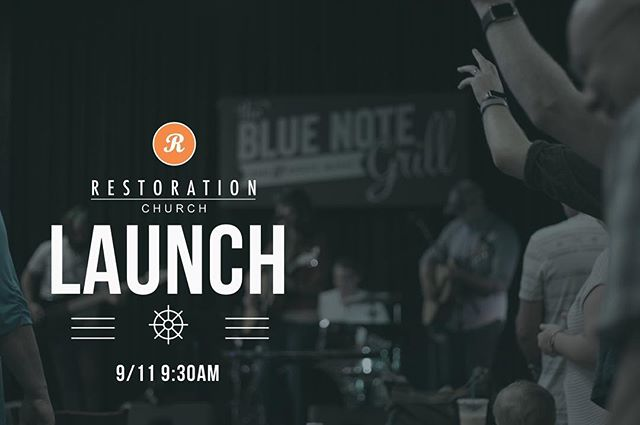 We are launching @thebluenotegrill on 9/11 at 9:30am come worship with us and bring a friend ! #bluenotegrill #restoration #durham #raleigh #downtowndurham #durhambulls