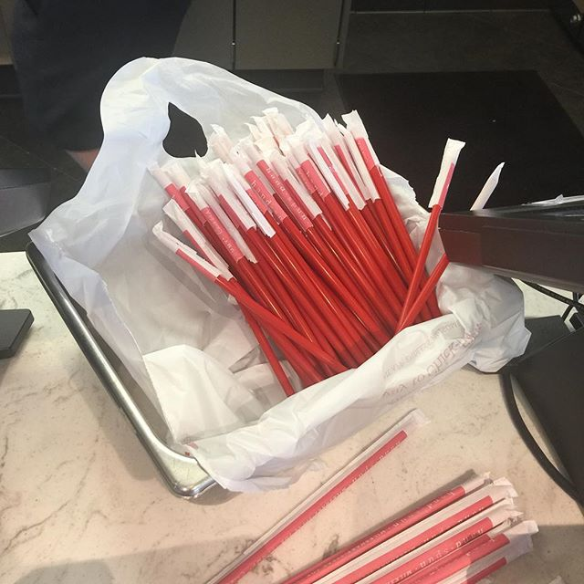 Look people.  Chick-fil-A has mastered the efficiency of straw distribution.