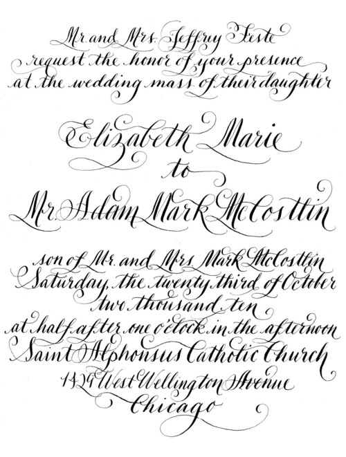 Diy calligraphy wedding invitation wording to print yourself diy calligraphy wedding invitation wording to print yourself vintage modern add to other stationary print at home letterpress yourself solutioingenieria Image collections
