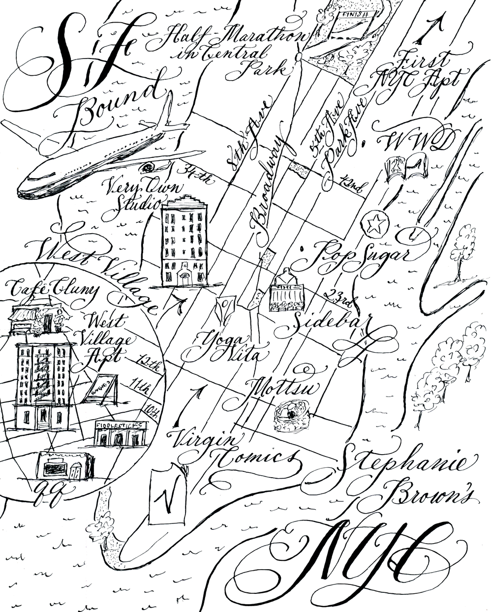 Stephanie Bueno's travel map by Robyn Love