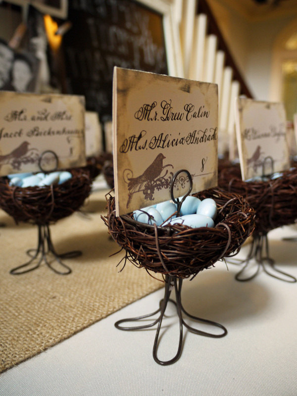 calligraphy escort cards wedding vintage bird cream blue brown.jpg