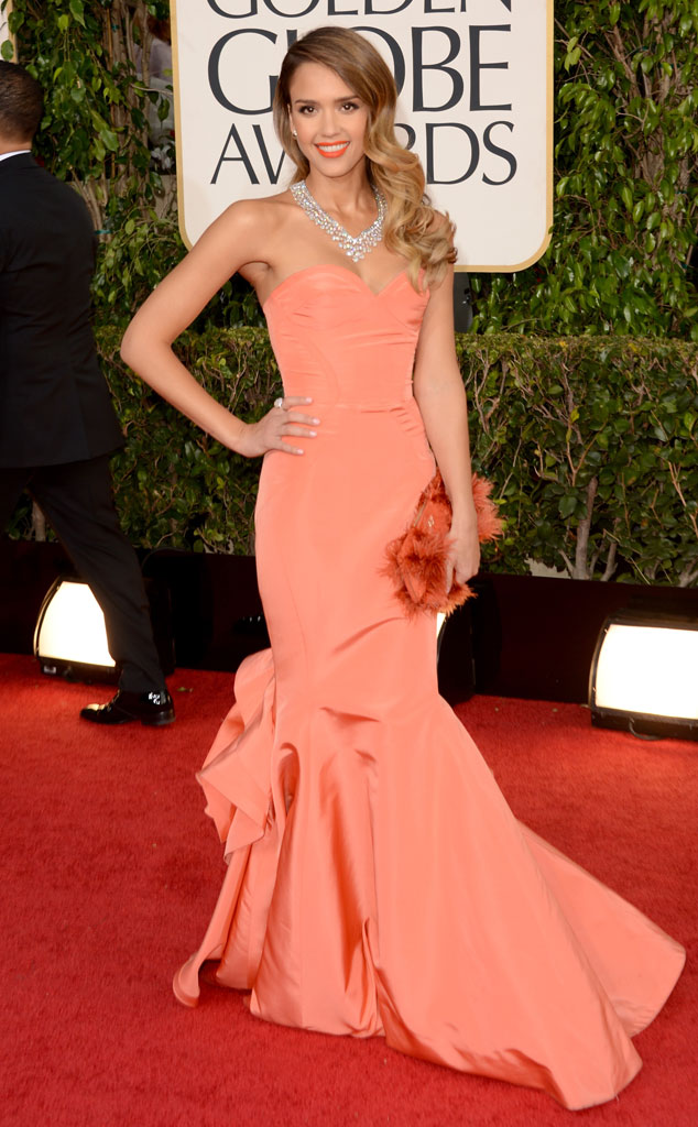 Jessica Alba at the 2013 Golden Globes Awards