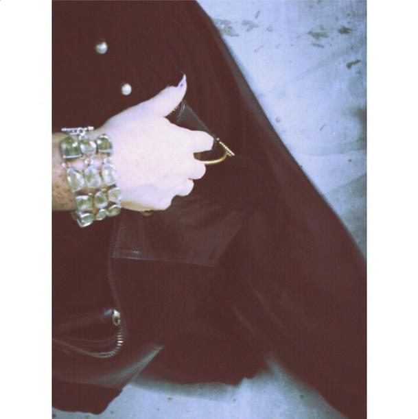 Cuff by Safia Day   Handbag by MOFE   Skirt by Bri Seeley