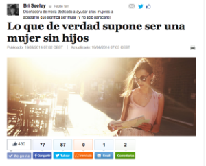 The article translated into Spanish. Click the image to read the article.