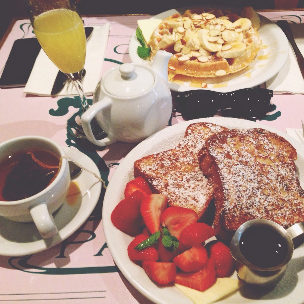 The best french toast yet, the strawberries were so fresh too.