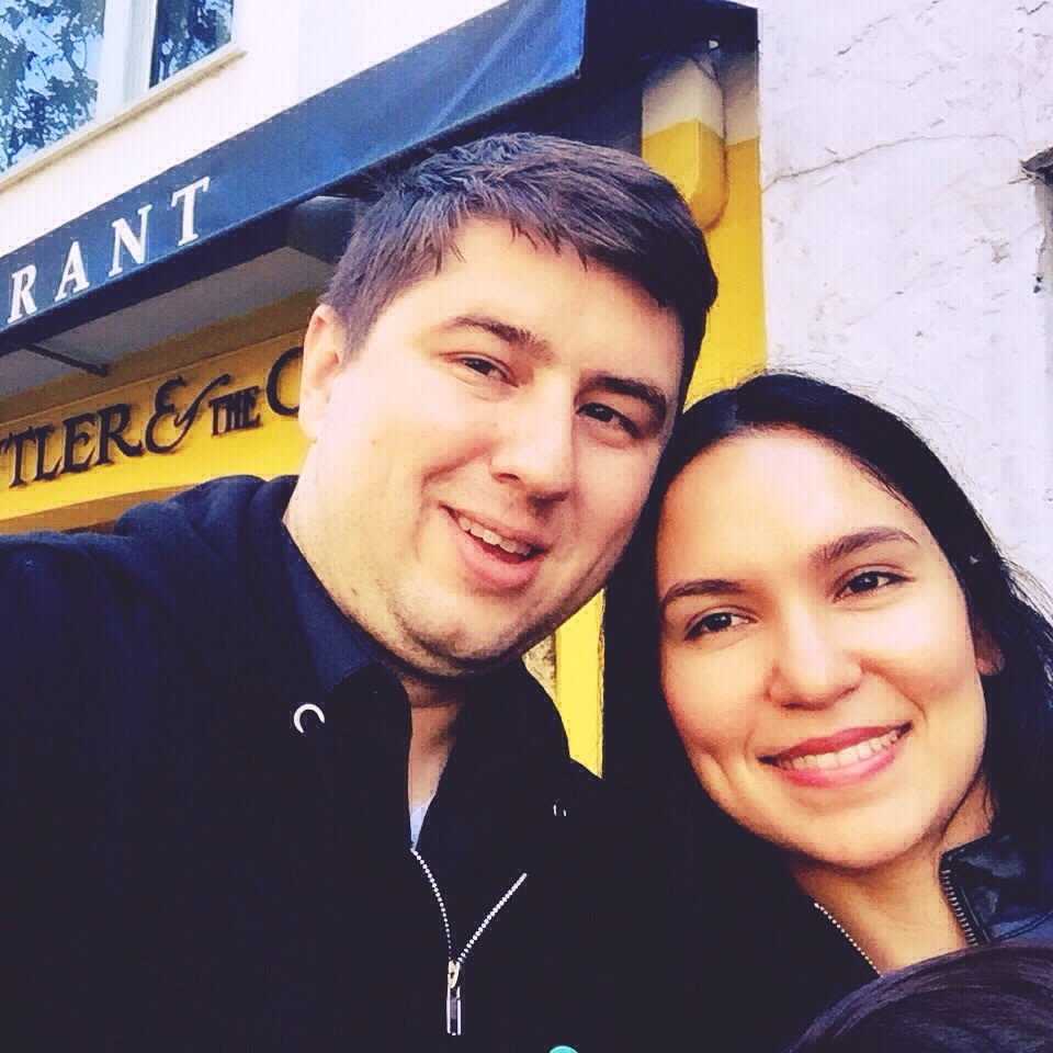 My love and I <3. Check out those morning faces, hehe.