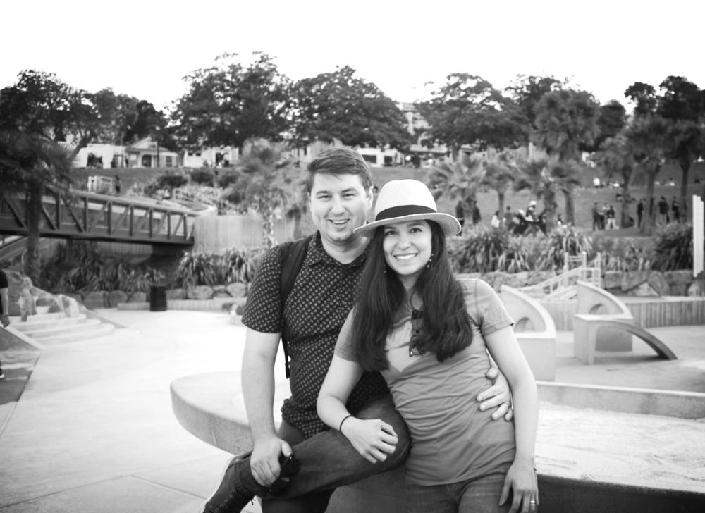 Mi esposo guapo y yo<3
