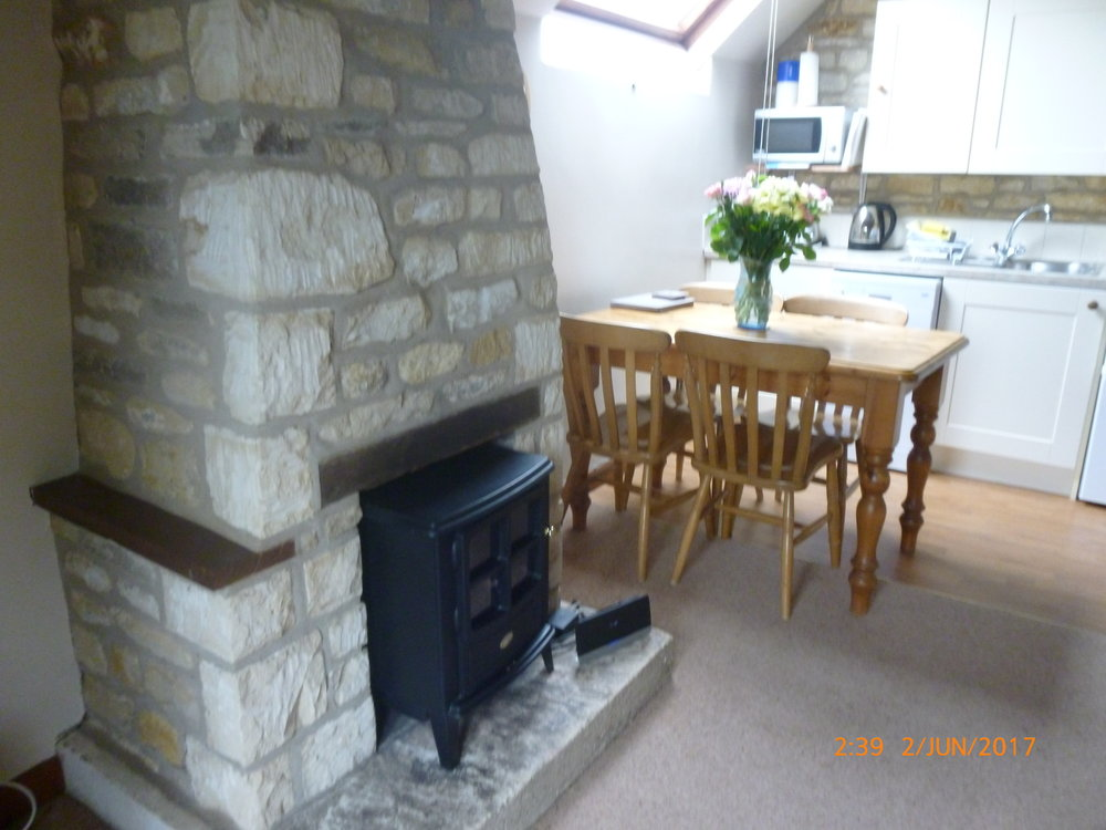 Bibury Holiday Cottages Self Catering Gloucestershire 2 Bedroom wood burning stove Living Area