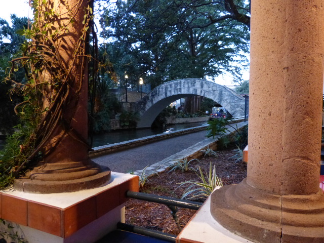 A view from our table at a bistro on the RiverWalk