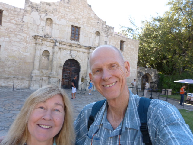 Cousin Eve and I remember the Alamo with a selfie.