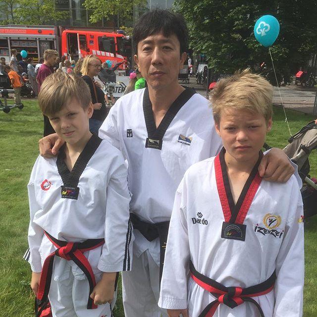 Jopi and Alexander had an Taekwondo Show with GM Min Hak Seo #töölö #helsinki #taekwondo #hesperia