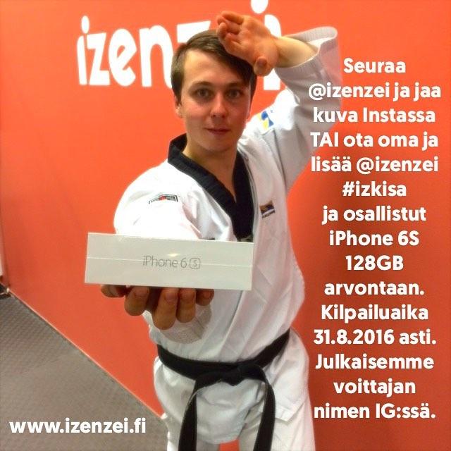 Seuraa @izenzei ja jaa kuva Instassa tai ota oma. Lisää kuvaan @izenzei ja #izkisa ja osallistut iPhone 6S 128GB arvontaan. Kilpailuaika 31.8.2016 asti. Julkaisemme voittajan nimen IG:ssä.