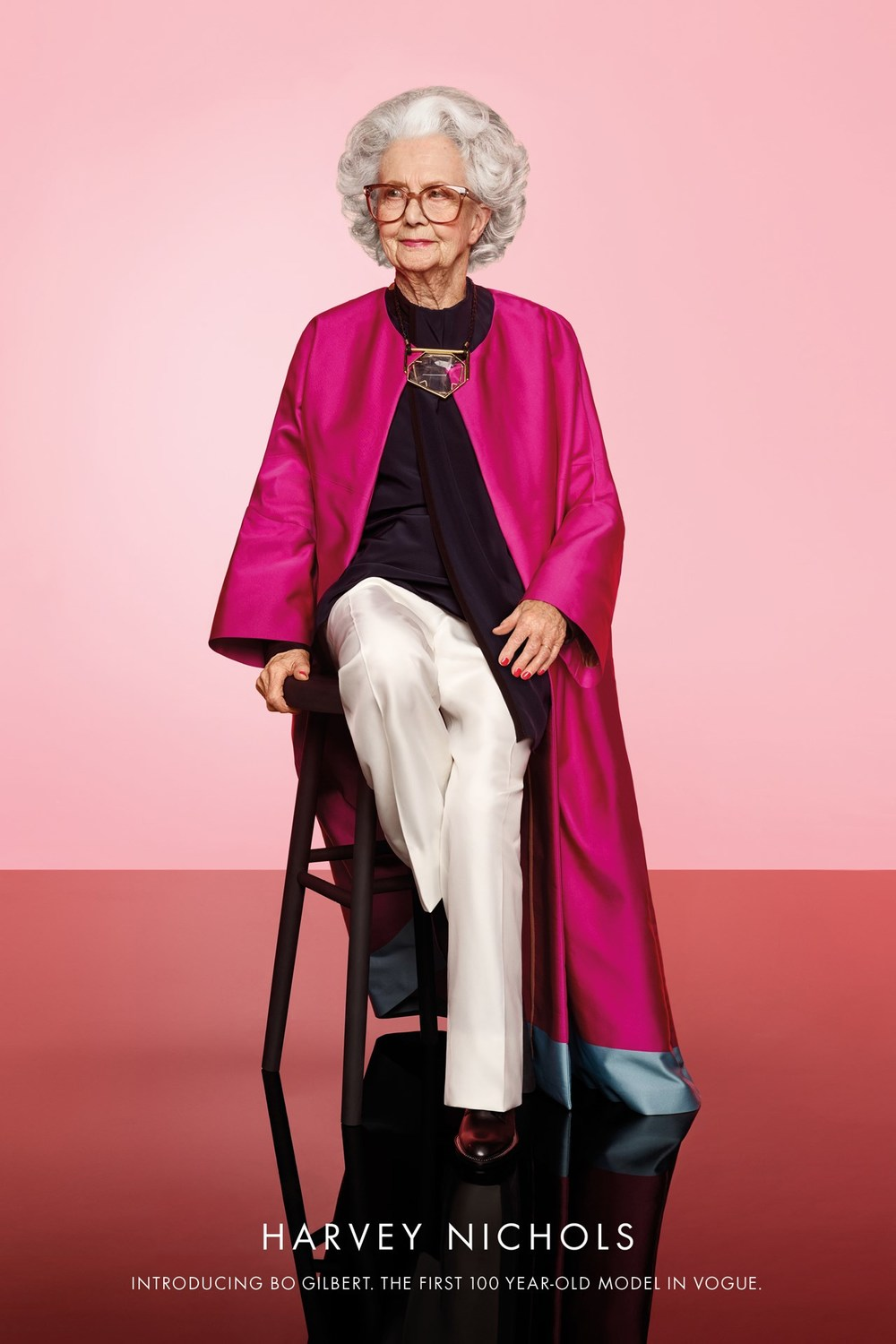 Bo Gilbert, British Vogue's first 100 year old model