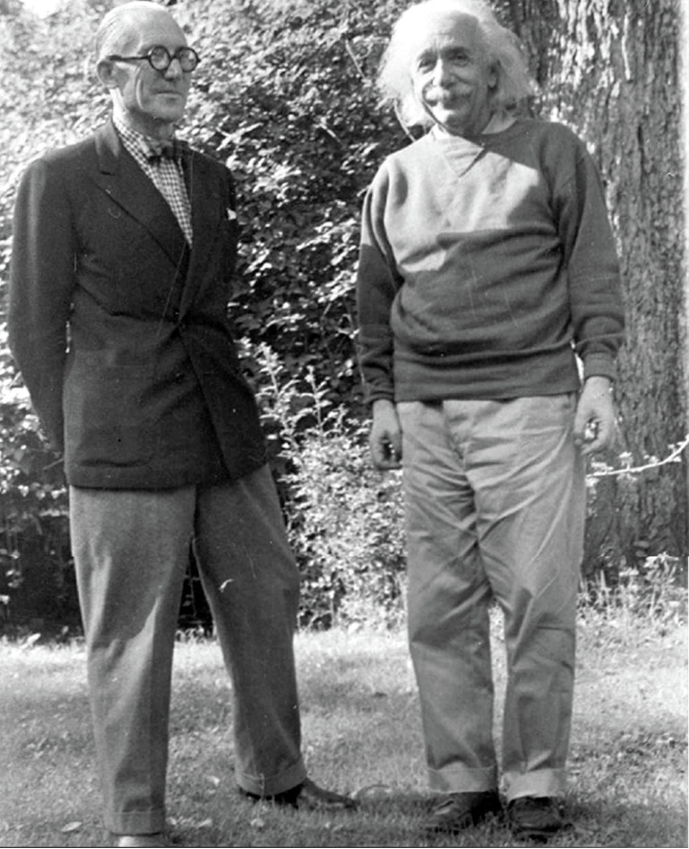 Le Corbusier & Einstein in Princeton, 1946