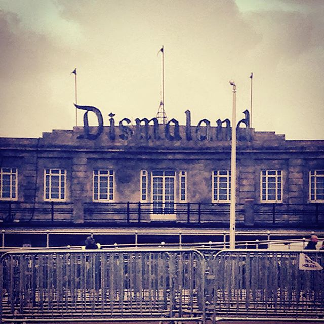 Slightly less stormy today. Firing up the oven right now. #Dismaland