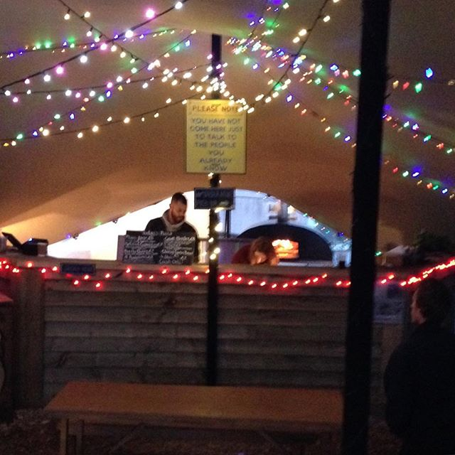 Late night pizza time @ #Dismaland