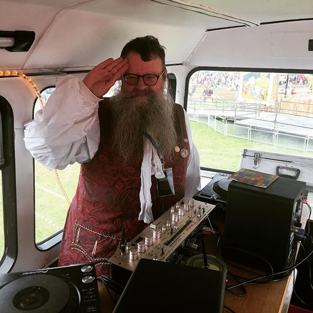 DJ DapperDan, tearing up our Thursday night. #glastonbury2016. Weirdly glad it's over, but still can't wait to be back.