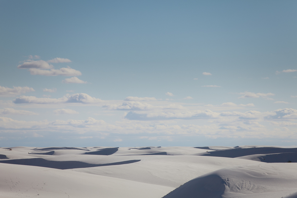 White Sands, New Mexico   landscape   by Seattle based photographer Dylan Priest