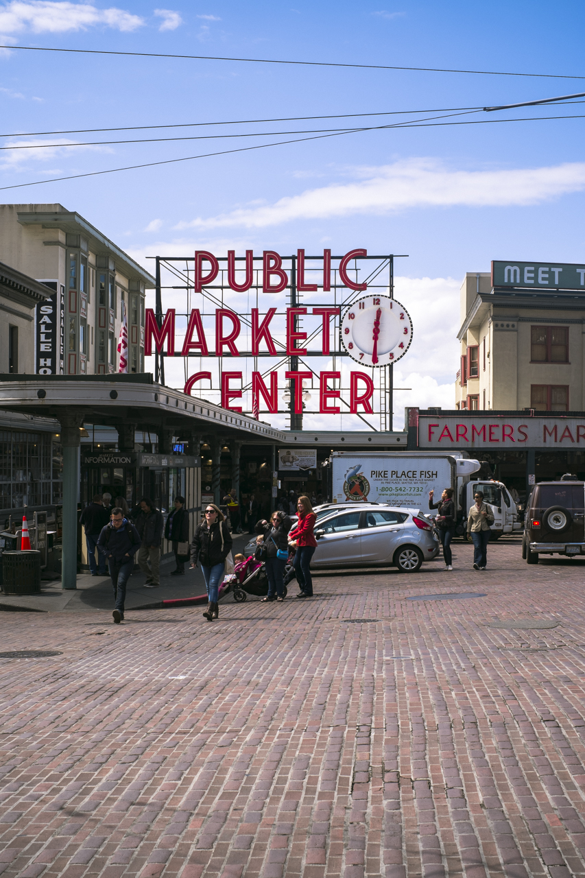 Pike Place Market in Seattle, WA by photographer Dylan Priest