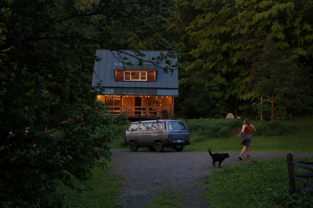 Our little house in Vermont earlier this summer.