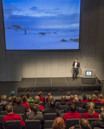 A keynote speech in Reykjavik, Iceland