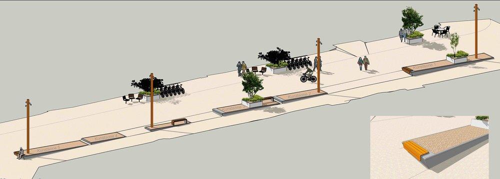 Detalj betongterrasse