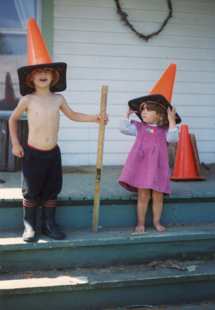 Me and Gary, being awesome. Also, road cones.