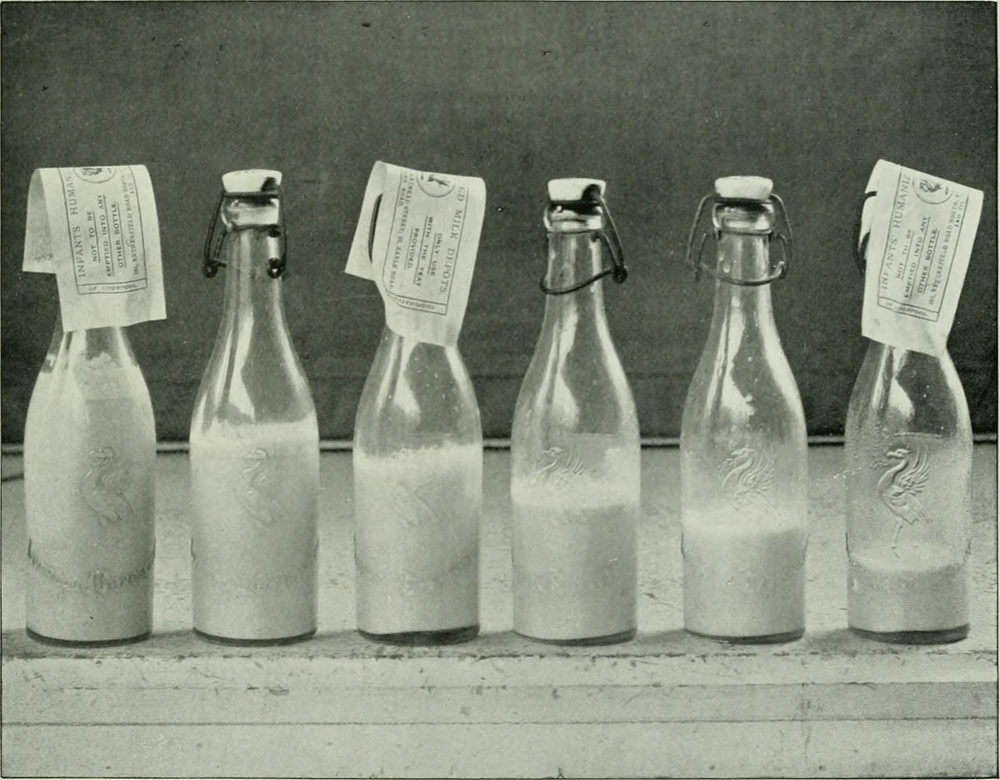 Does anyone know what the pieces of paper on the milk bottles are for?