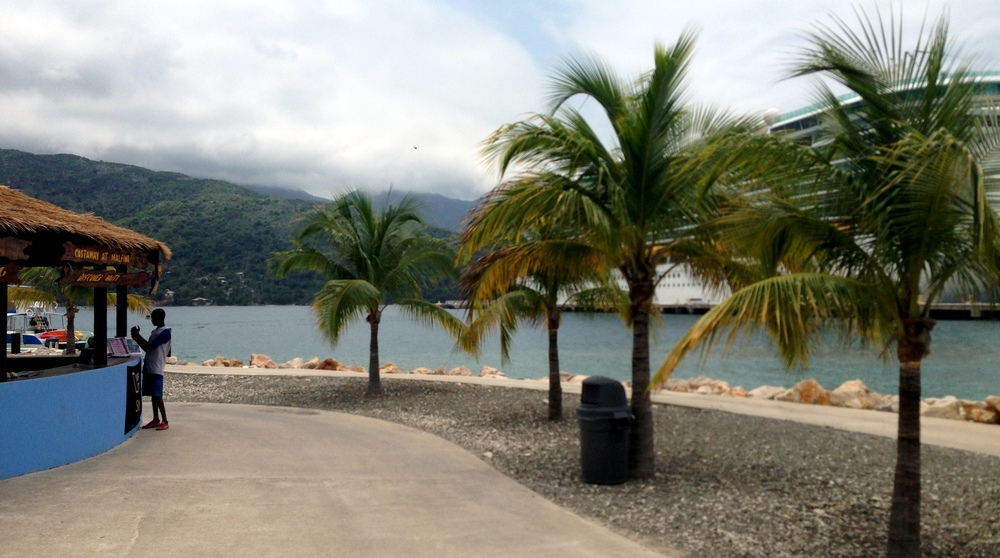 This is Labadee, Haiti, where we landed.