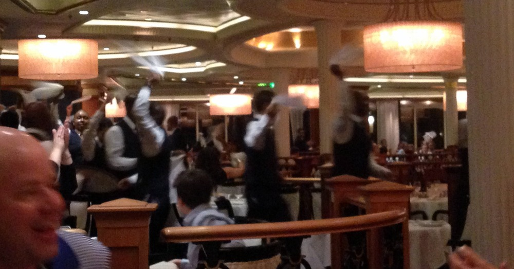 Sometimes the wait staff did parades at dinnertime.