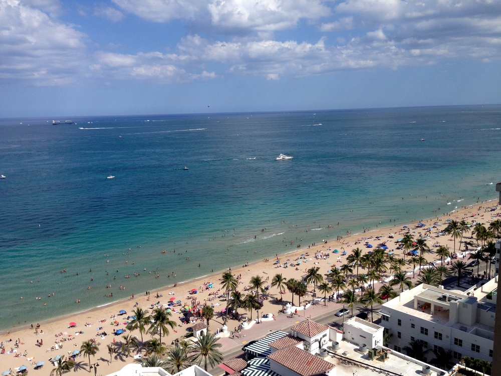 Fort Lauderdale Beach, from above.
