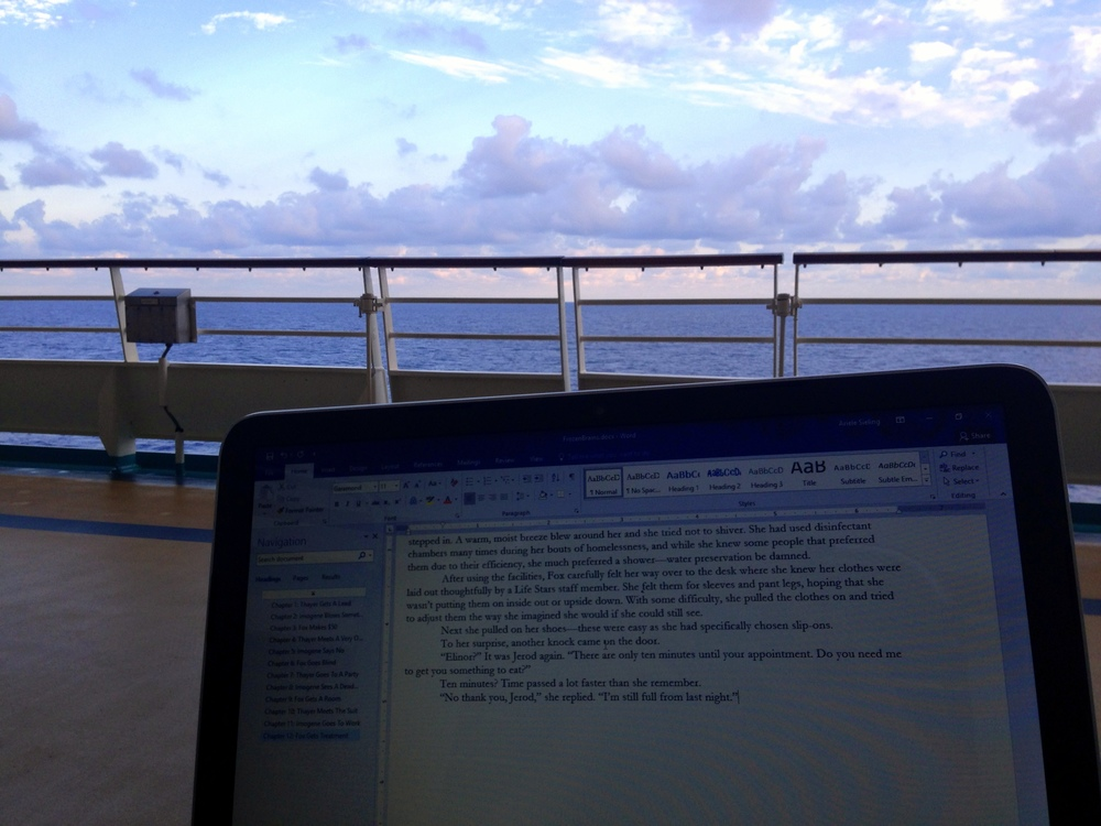 Here's the NanoWriMo pic I couldn't post. Deck 4, 1300 words on day 2.